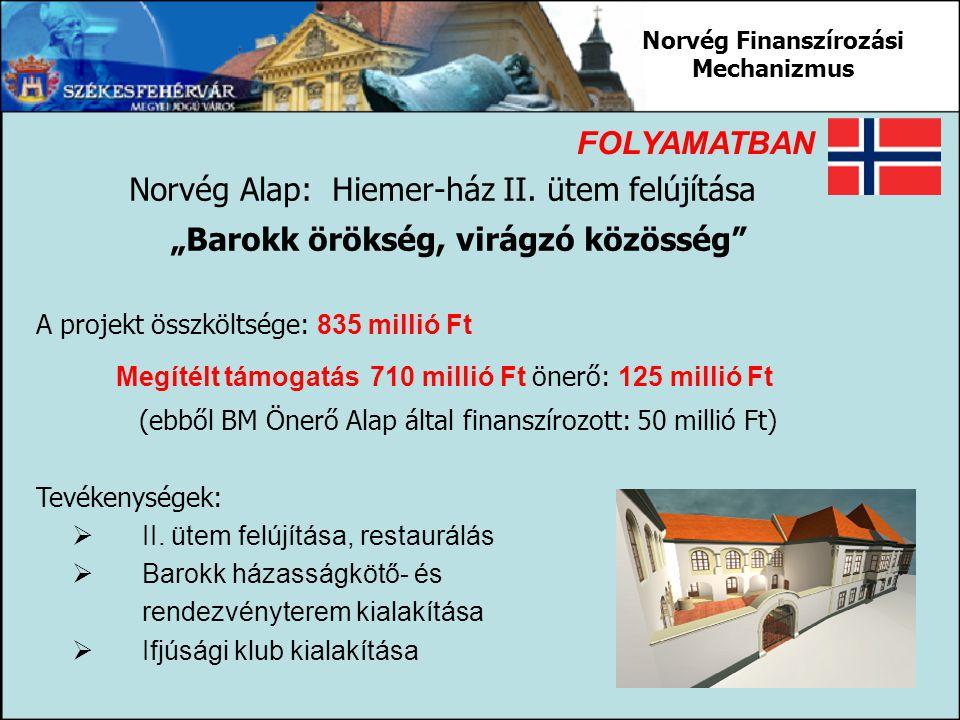 """Norvég Finanszírozási Mechanizmus """"Barokk örökség, virágzó közösség"""
