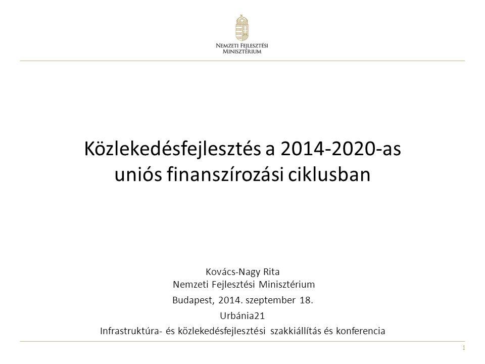Közlekedésfejlesztés a 2014-2020-as uniós finanszírozási ciklusban