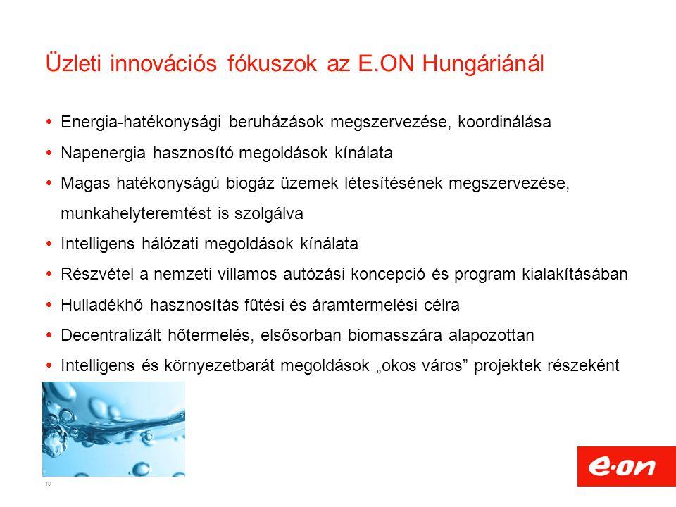Üzleti innovációs fókuszok az E.ON Hungáriánál
