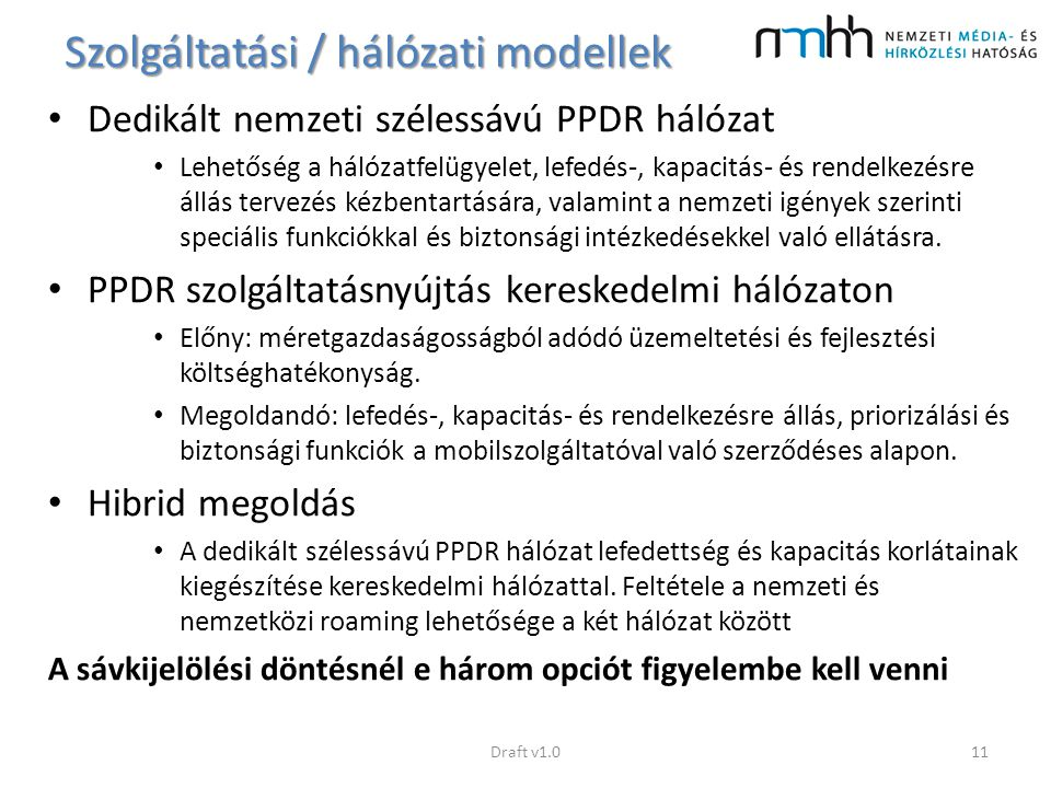Szolgáltatási / hálózati modellek