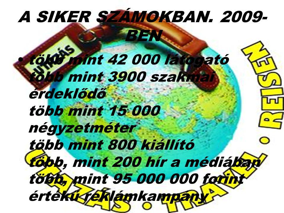 A SIKER SZÁMOKBAN. 2009-BEN