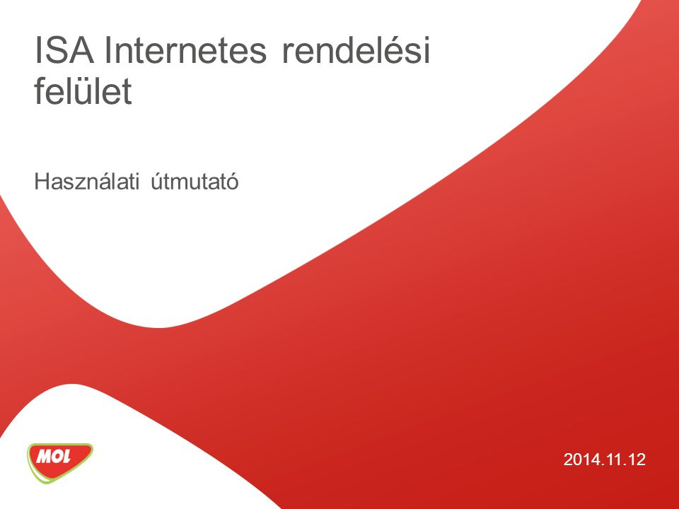 ISA Internetes rendelési felület