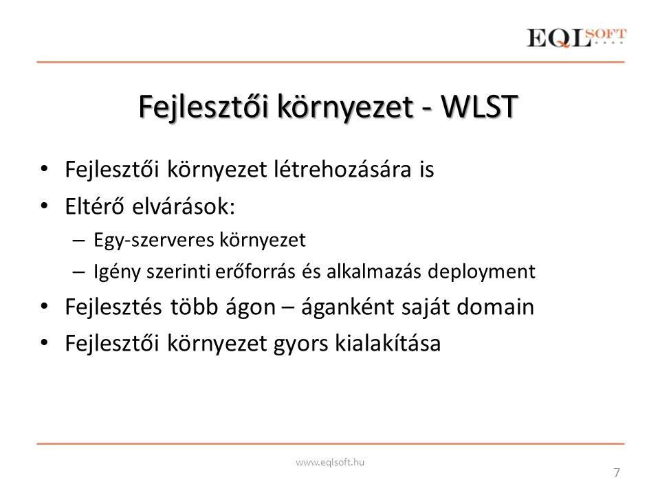 Fejlesztői környezet - WLST
