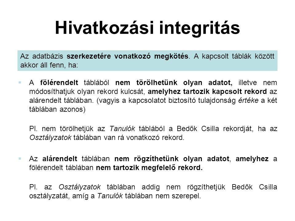 Hivatkozási integritás