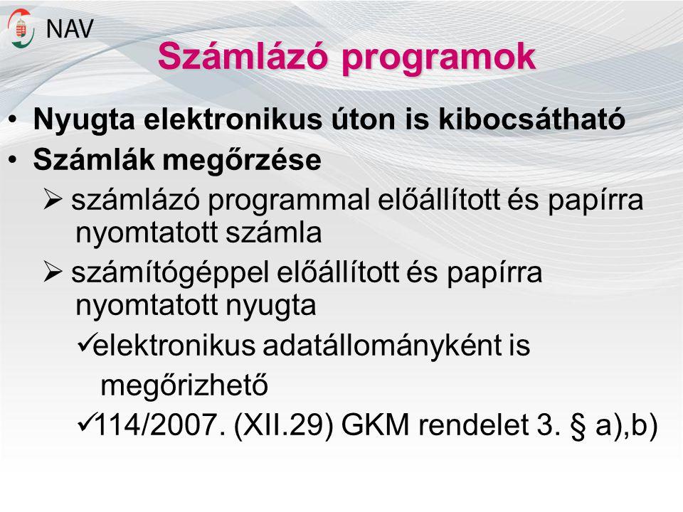 Számlázó programok Nyugta elektronikus úton is kibocsátható