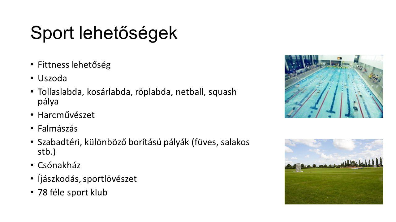 Sport lehetőségek Fittness lehetőség Uszoda