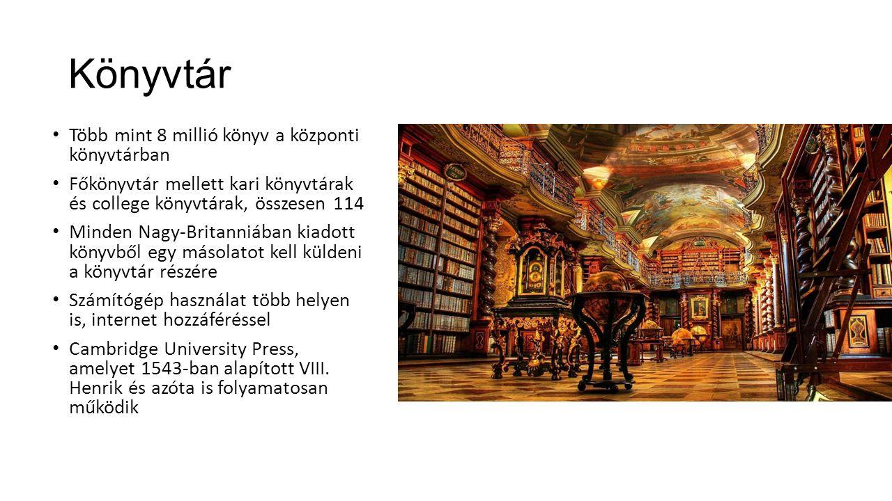 Könyvtár Több mint 8 millió könyv a központi könyvtárban
