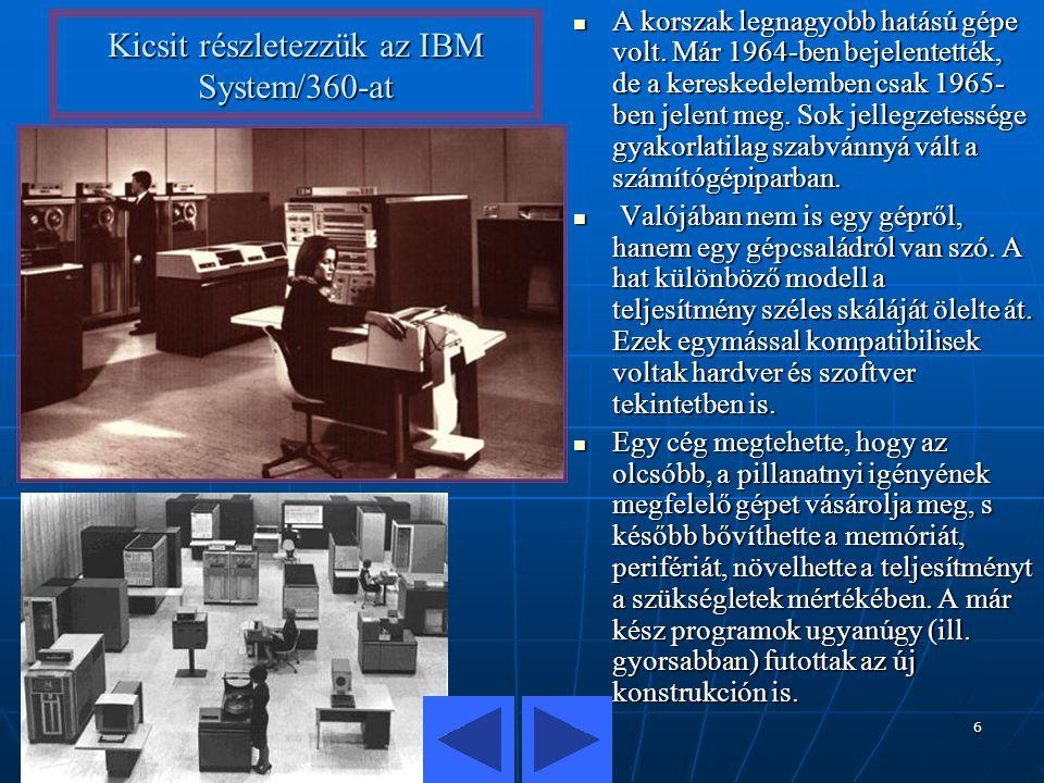 Kicsit részletezzük az IBM System/360-at