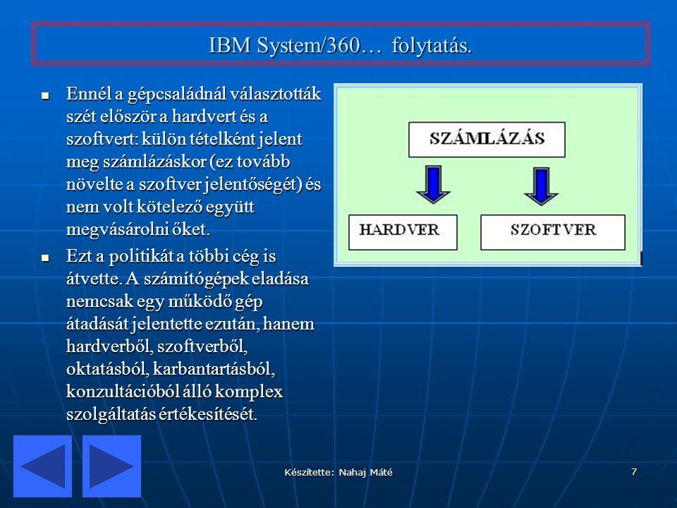IBM System/360… folytatás.