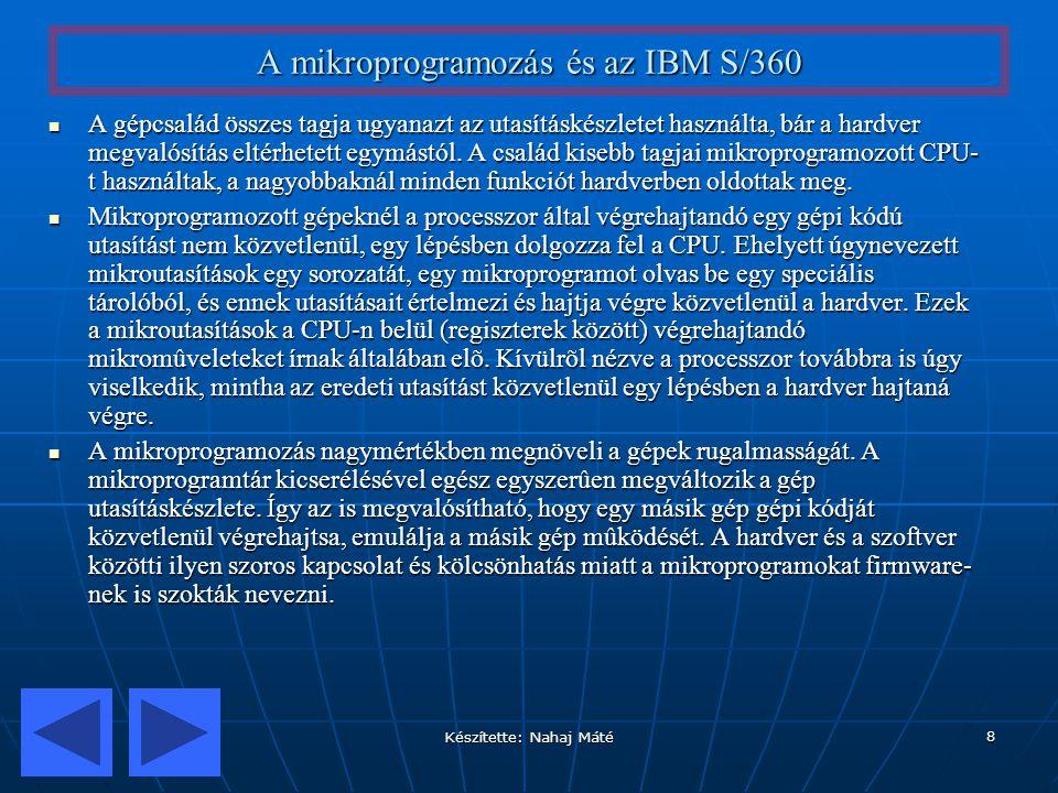 A mikroprogramozás és az IBM S/360