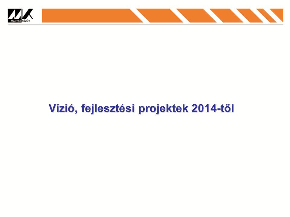 Vízió, fejlesztési projektek 2014-től