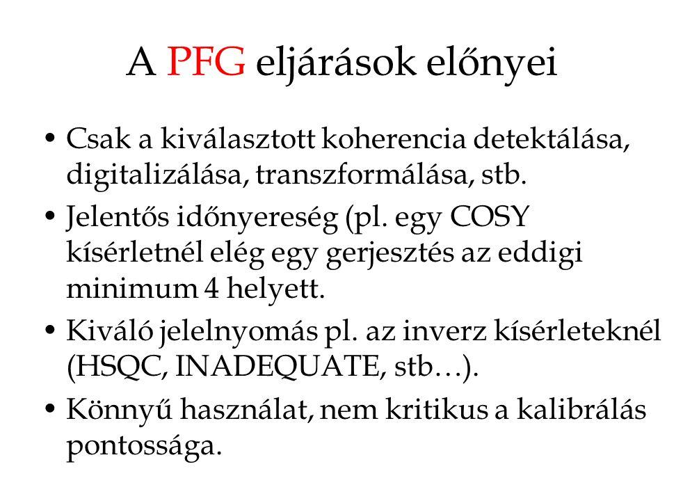 A PFG eljárások előnyei