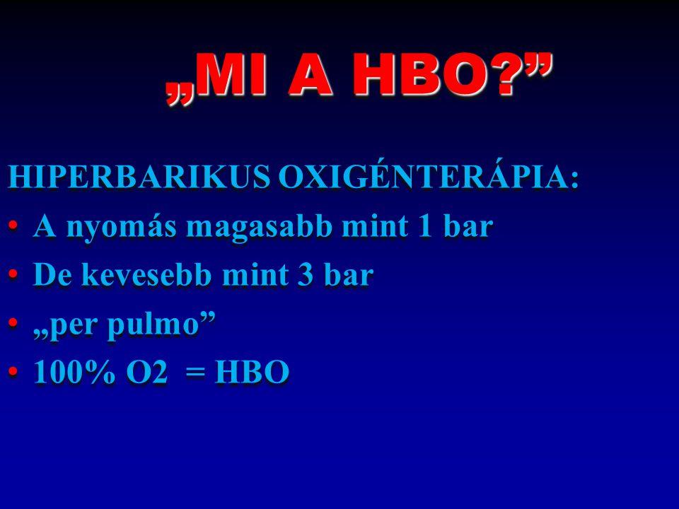 """""""MI A HBO HIPERBARIKUS OXIGÉNTERÁPIA: A nyomás magasabb mint 1 bar"""