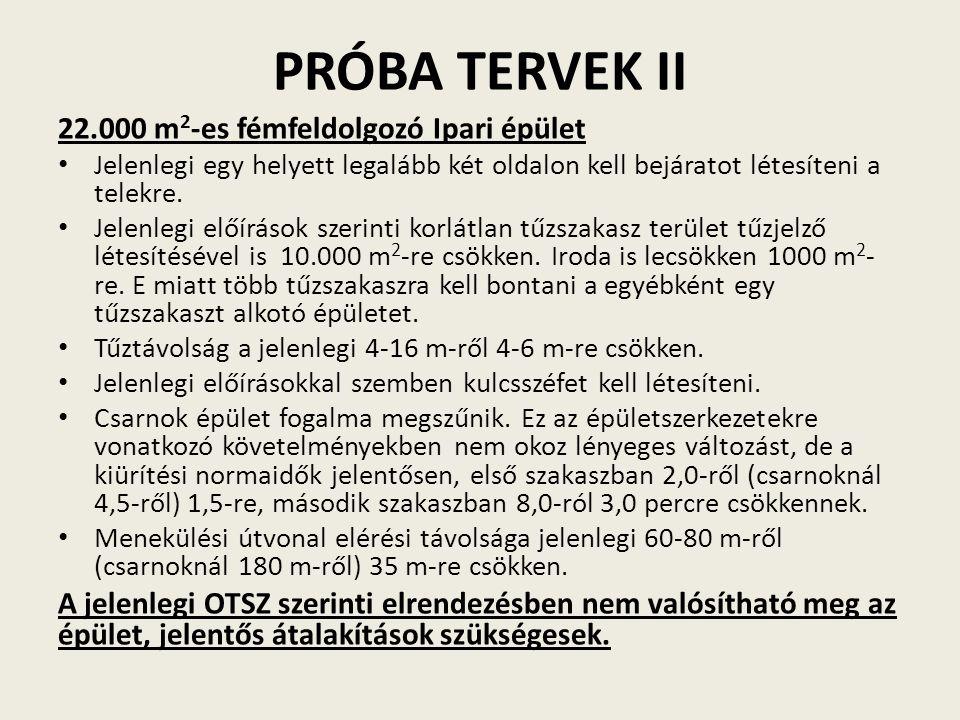 PRÓBA TERVEK II 22.000 m2-es fémfeldolgozó Ipari épület