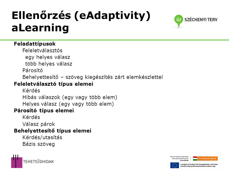 Ellenőrzés (eAdaptivity) aLearning