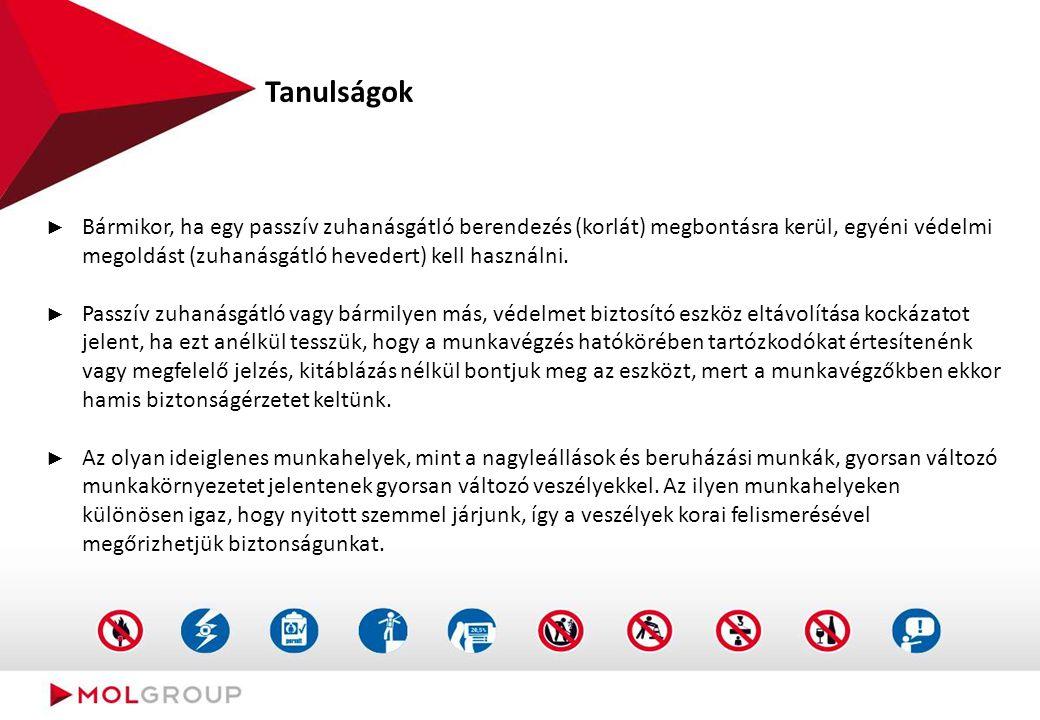 Kvázi baleset (potenciálisan halálos baleset) Dunai Finomító - 2013. 04. 09.