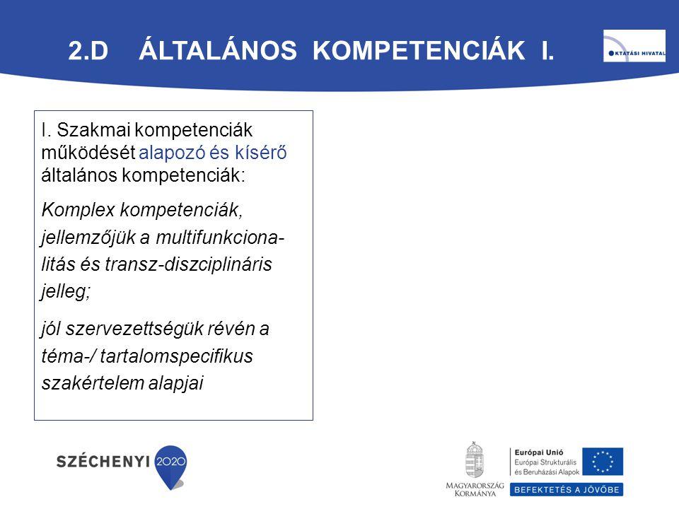 2.d Általános Kompetenciák I.