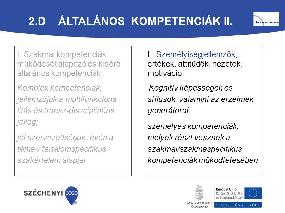 2.d Általános Kompetenciák II.