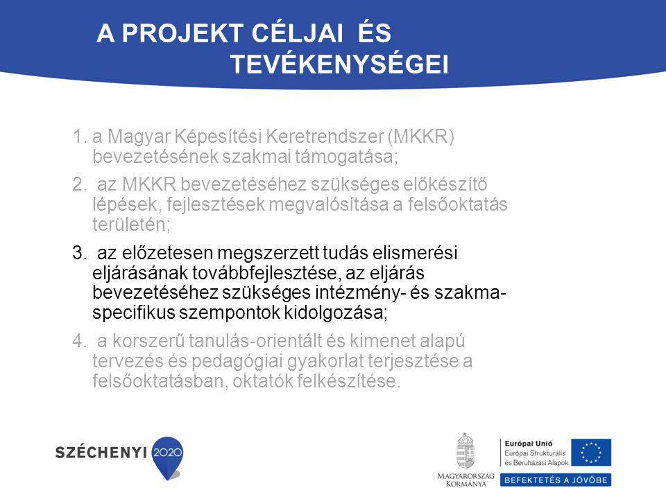 A projekt céljai és tevékenységei