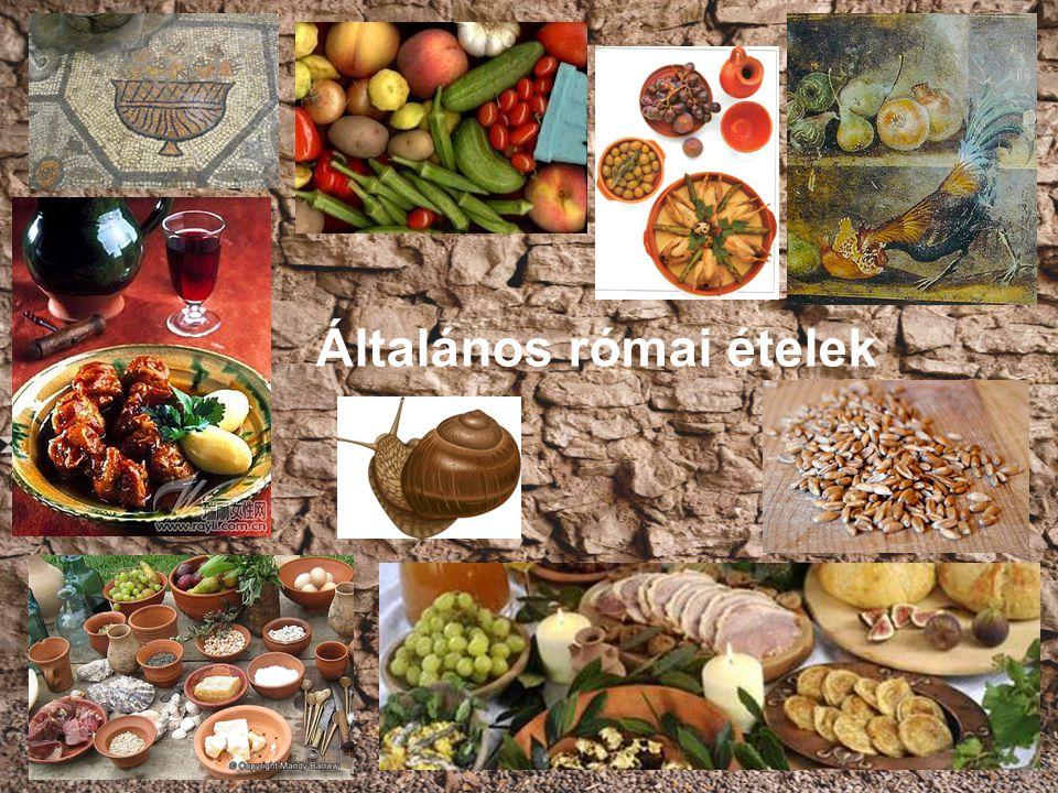 Általános római ételek