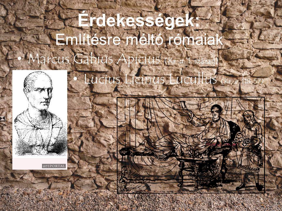 Említésre méltó rómaiak
