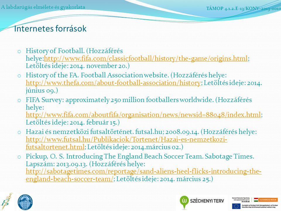 A labdarúgás elmélete és gyakorlata