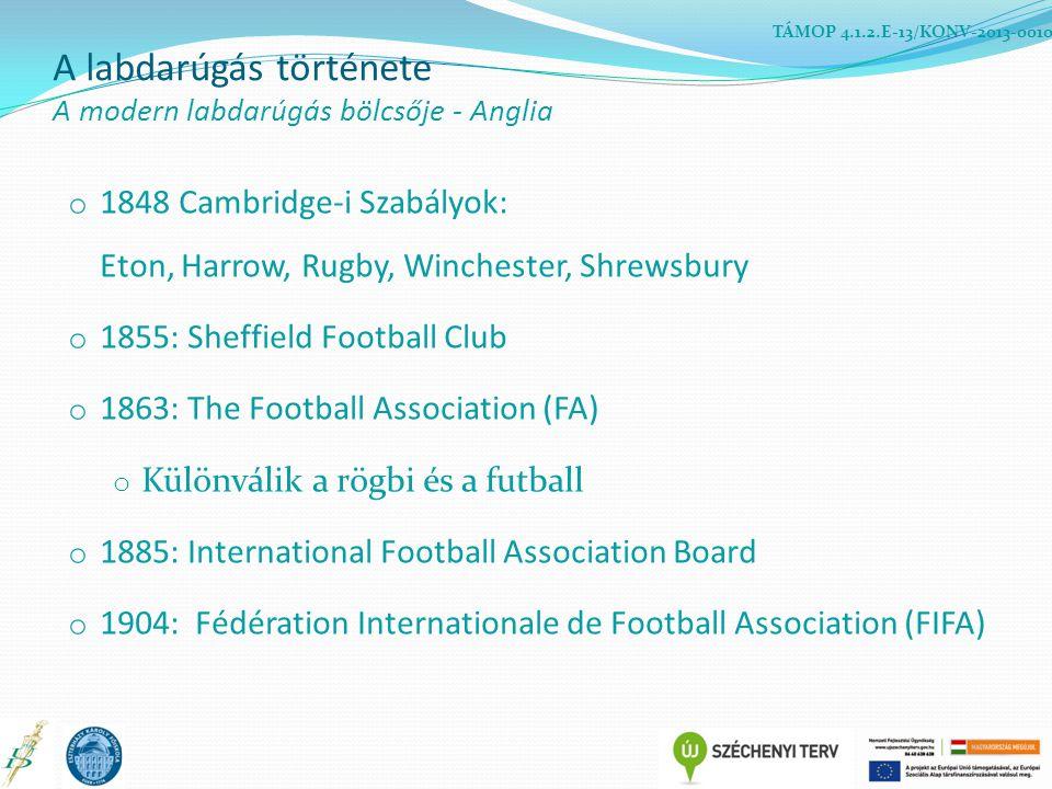 A labdarúgás története A modern labdarúgás bölcsője - Anglia