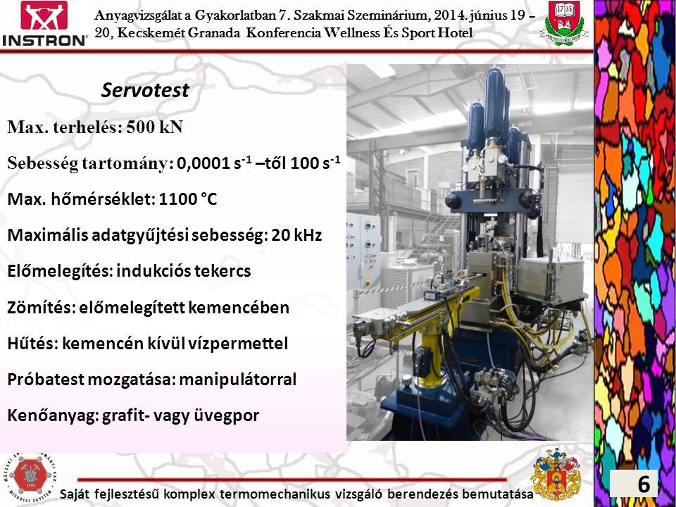 6 Servotest Max. terhelés: 500 kN