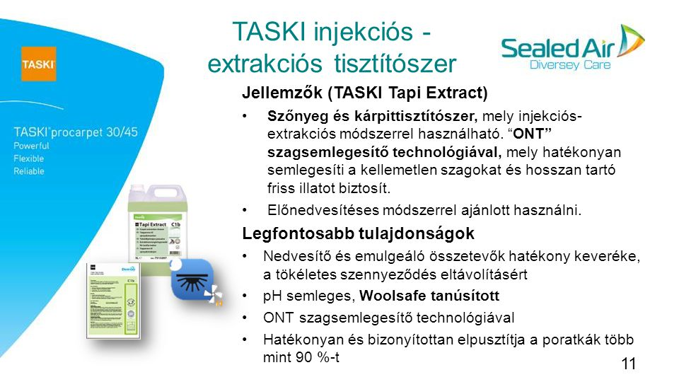 TASKI injekciós - extrakciós tisztítószer