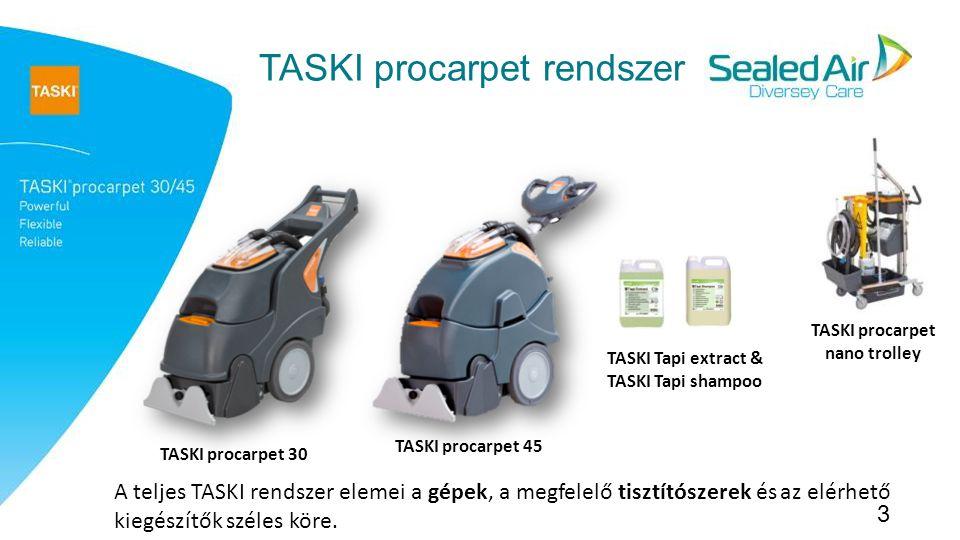 TASKI procarpet nano trolley TASKI Tapi extract & TASKI Tapi shampoo