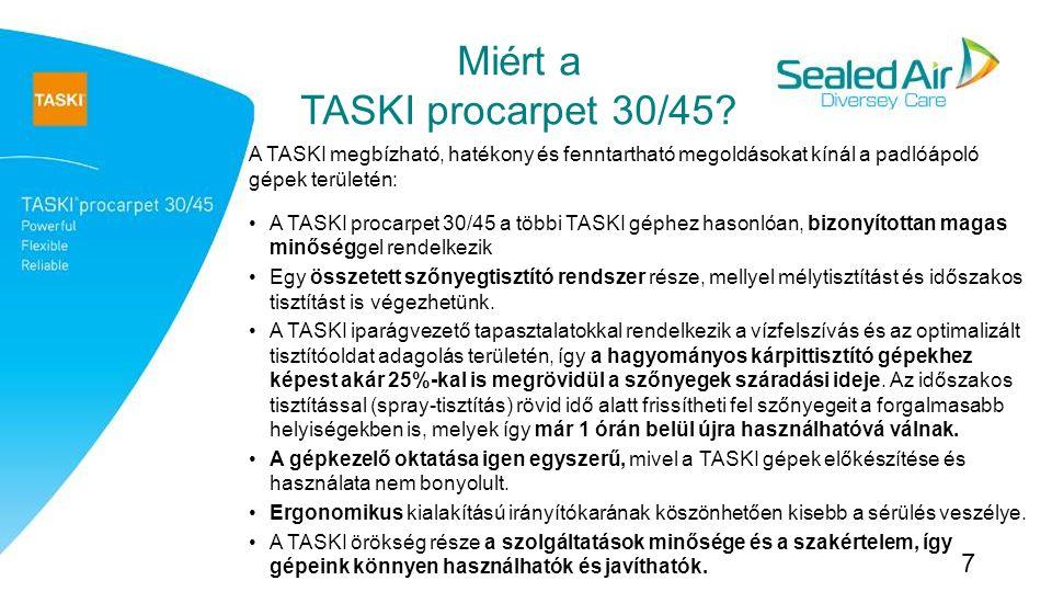 Miért a TASKI procarpet 30/45