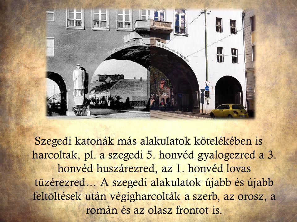 Szegedi katonák más alakulatok kötelékében is harcoltak, pl