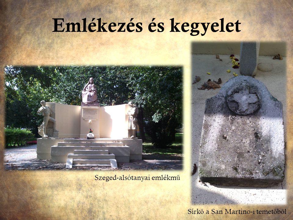 Emlékezés és kegyelet Szeged-alsótanyai emlékmű