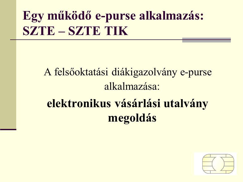 Egy működő e-purse alkalmazás: SZTE – SZTE TIK