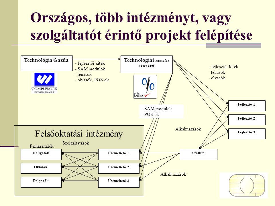 Országos, több intézményt, vagy szolgáltatót érintő projekt felépítése