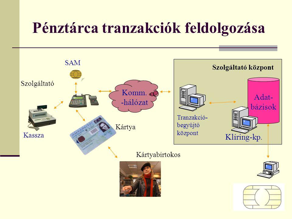 Pénztárca tranzakciók feldolgozása