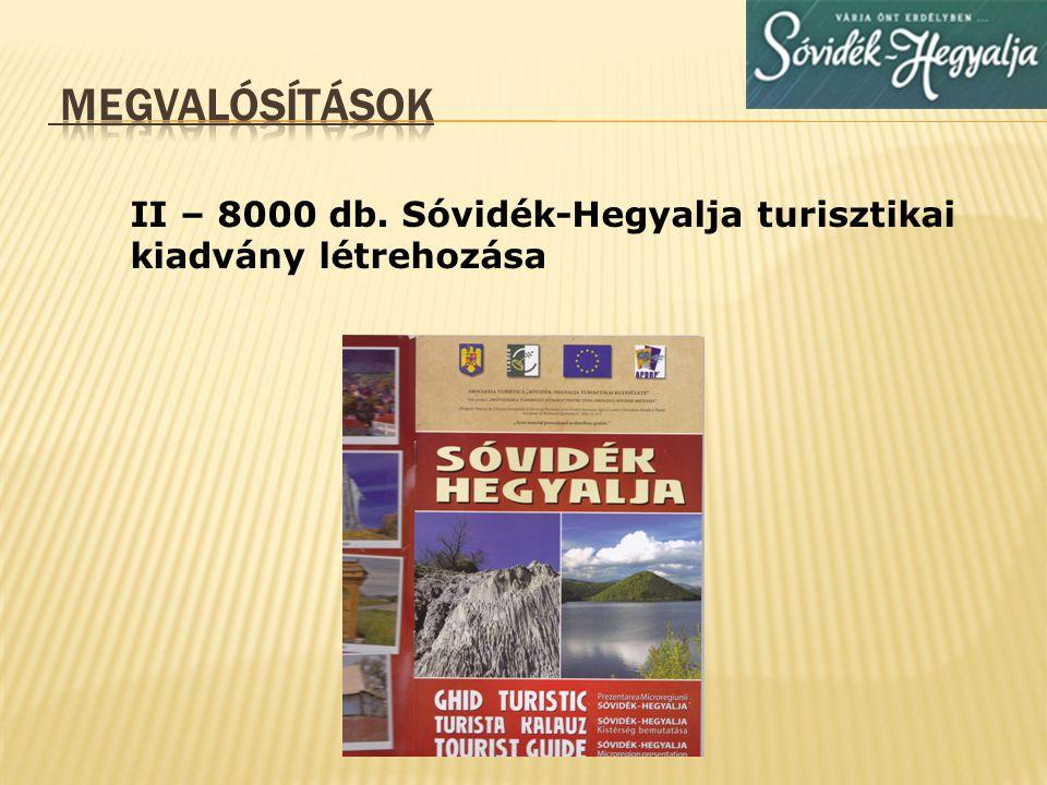 Megvalósítások II – 8000 db. Sóvidék-Hegyalja turisztikai kiadvány létrehozása
