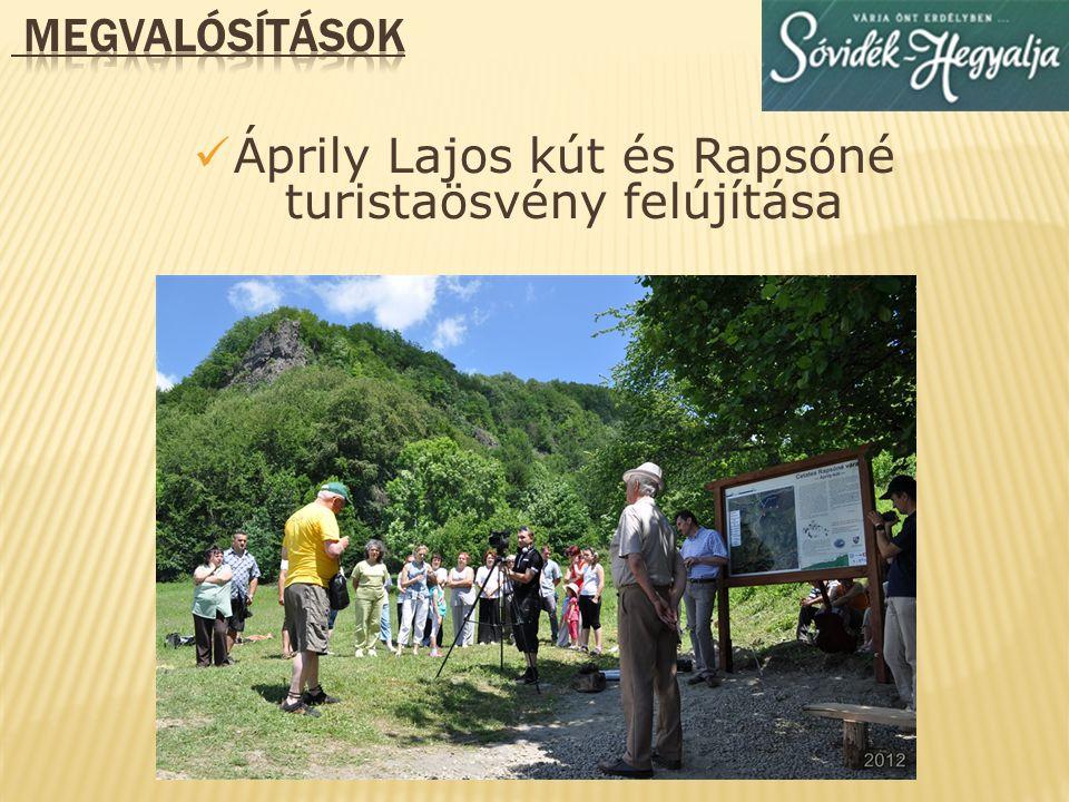 Áprily Lajos kút és Rapsóné turistaösvény felújítása