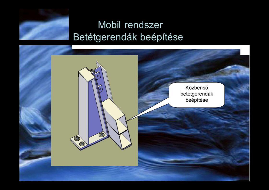 Mobil rendszer Betétgerendák beépítése