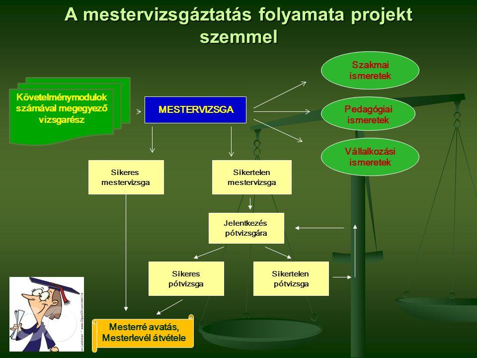A mestervizsgáztatás folyamata projekt szemmel