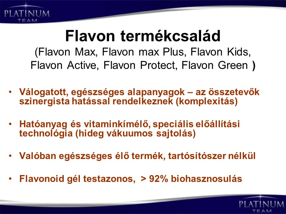 Flavon termékcsalád (Flavon Max, Flavon max Plus, Flavon Kids, Flavon Active, Flavon Protect, Flavon Green )