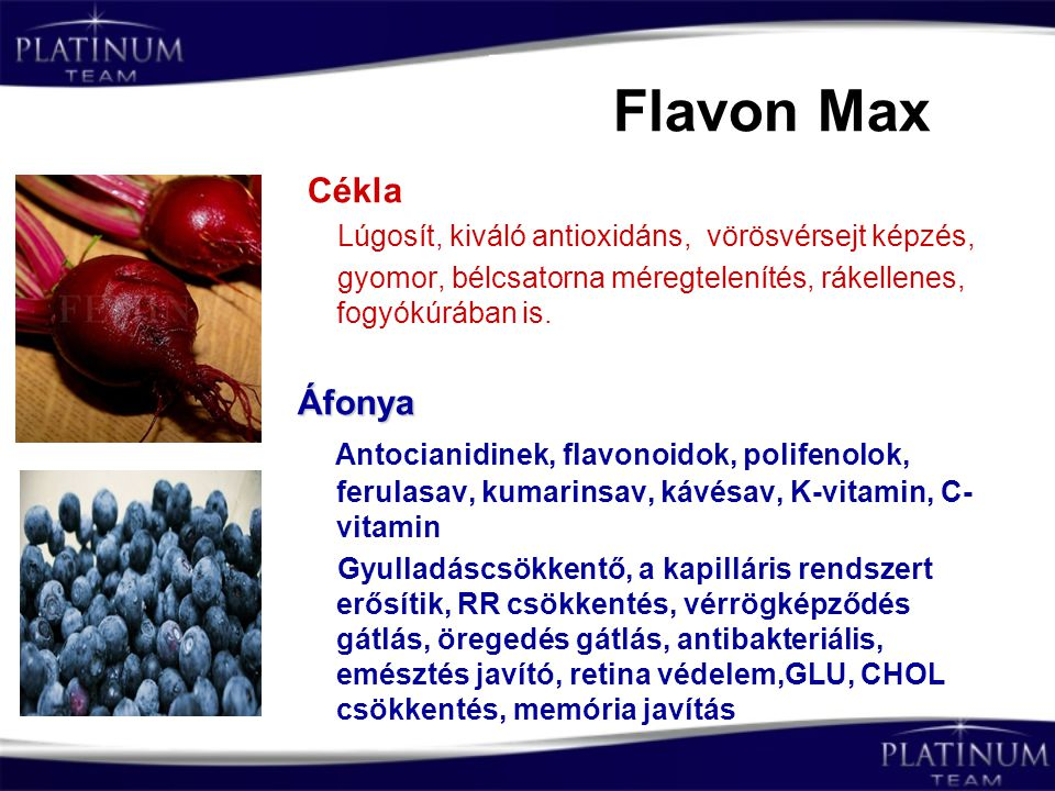 Flavon Max Cékla Áfonya