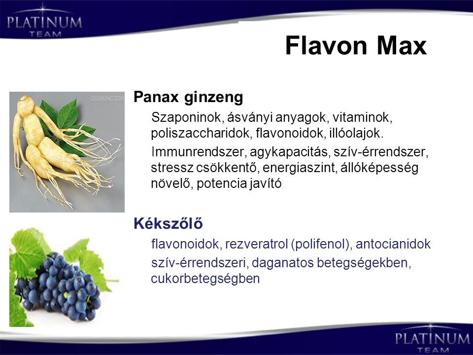 Flavon Max Panax ginzeng Kékszőlő