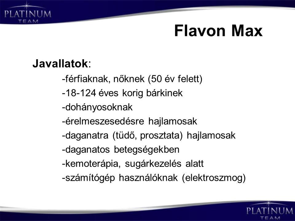 Flavon Max Javallatok: -férfiaknak, nőknek (50 év felett)
