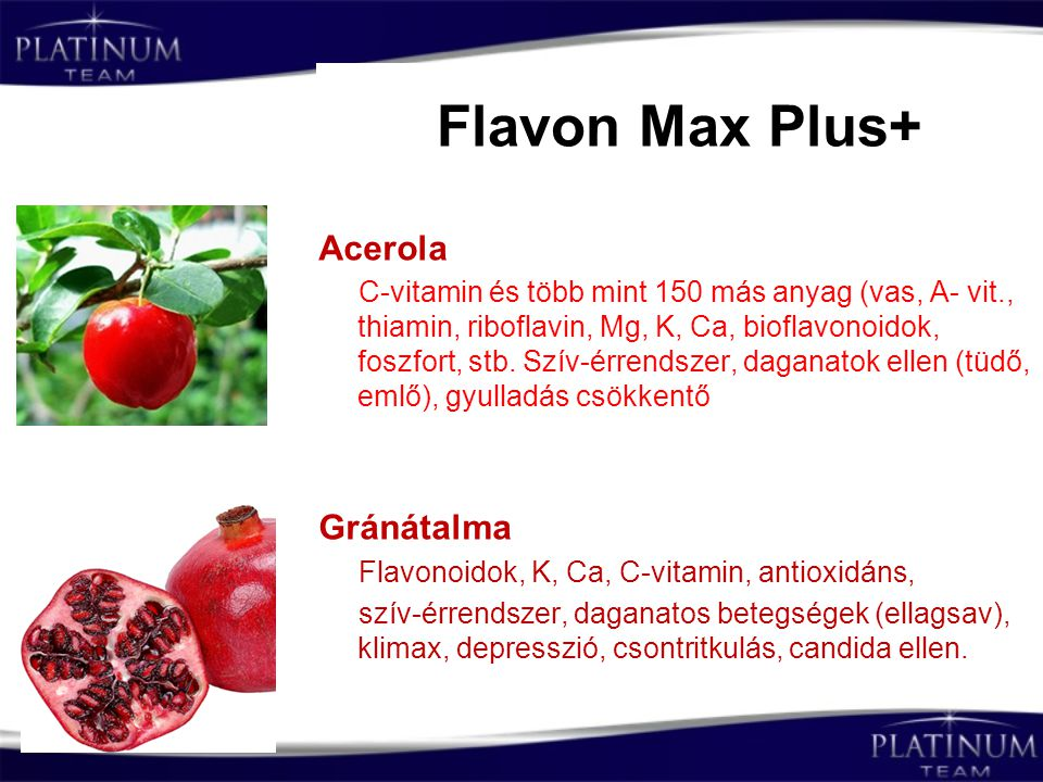 Flavon Max Plus+ Acerola Gránátalma