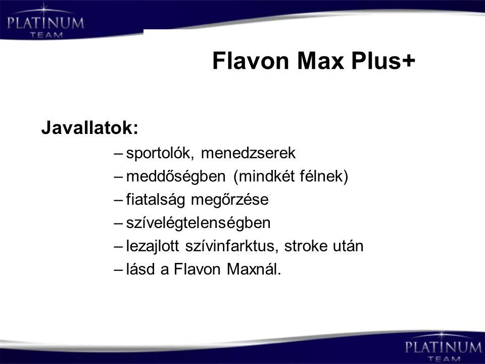 Flavon Max Plus+ Javallatok: sportolók, menedzserek