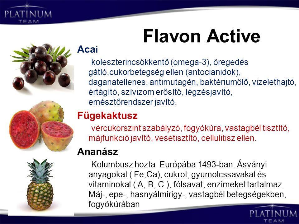 Flavon Active Acai Fügekaktusz Ananász
