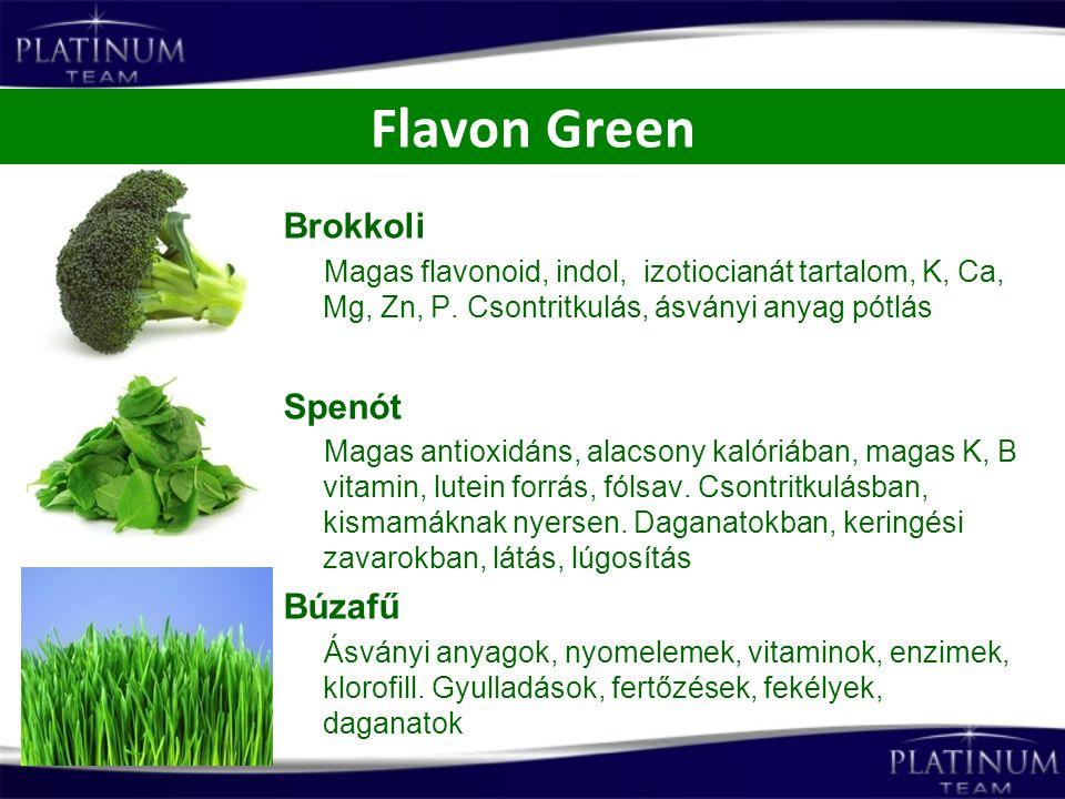 Flavon Green Brokkoli Spenót Búzafű