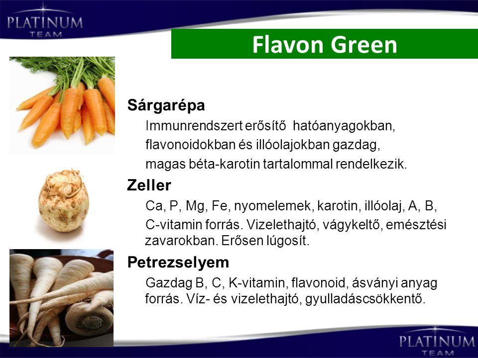 Flavon Green Sárgarépa Zeller Petrezselyem