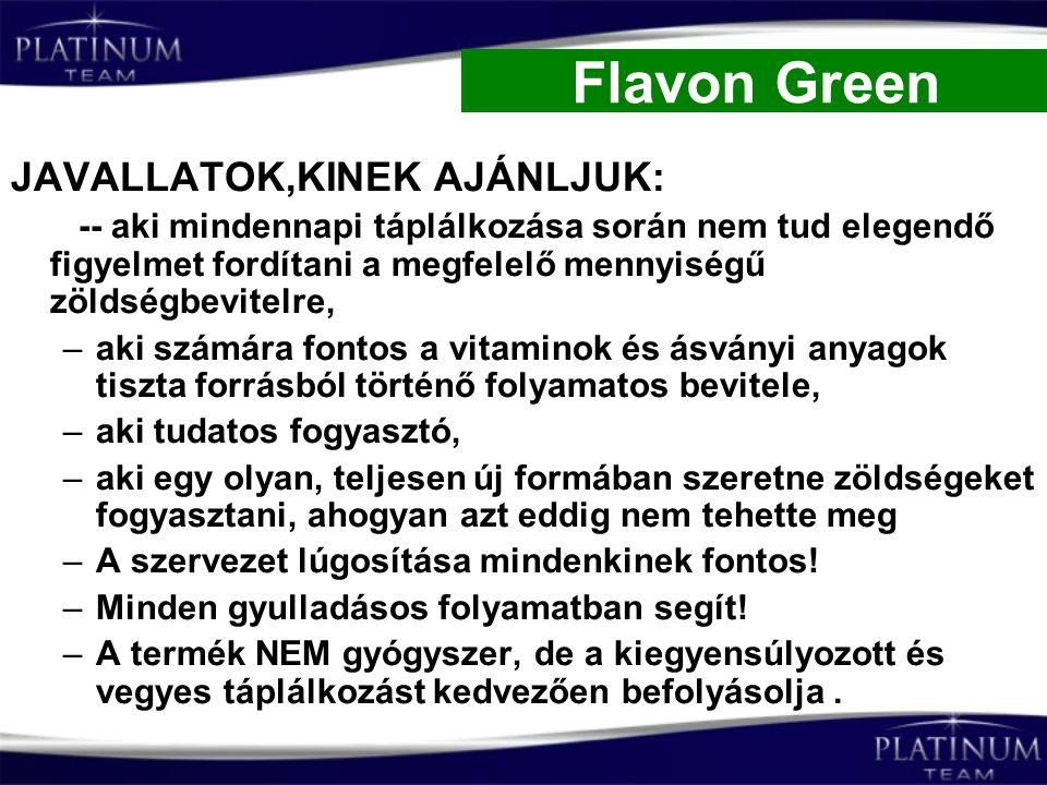 Flavon Green JAVALLATOK,KINEK AJÁNLJUK: